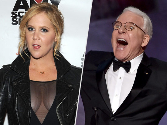 #StayinyourlaneMartin: Amy Schumer & Steve Martin Get Into a Playful Twitter Tiff Over ... Science?