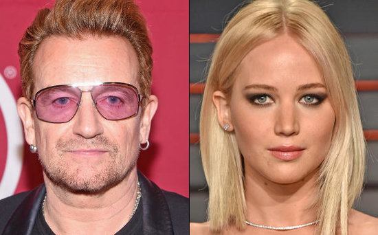 FROM EW: Bono Praises Jennifer Lawrence for Gender Equality Stance