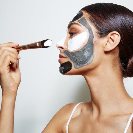 Woman Wearing Skin Care Mask on Train