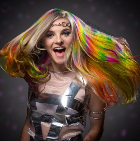 Rainbow Hair Inspired by Superheroes