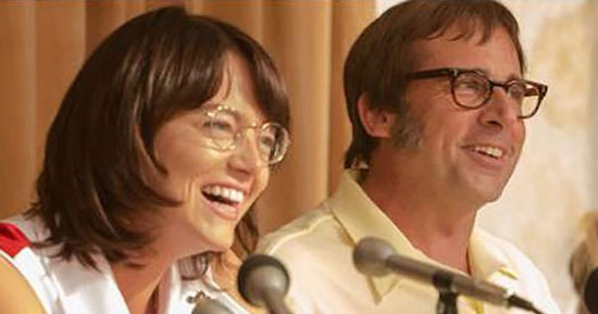 See Stone and Carell in Battle of the Sexes Shot