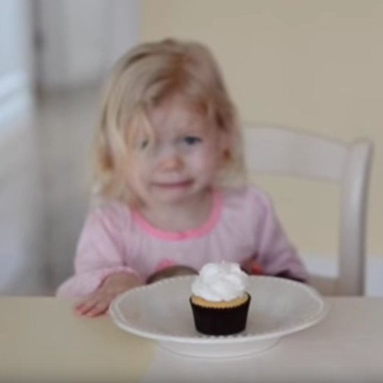 Little Girl Upset About Baby Sibling's Cupcake Gender Reveal