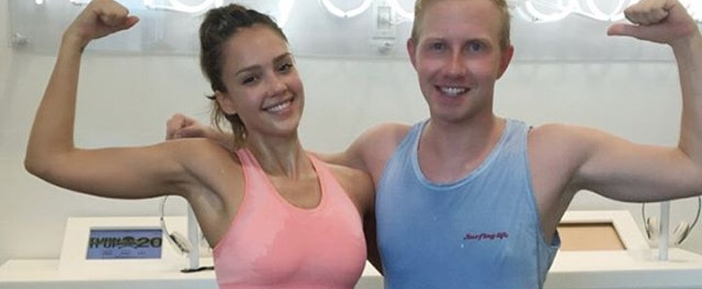 Jessica Alba Sweats Just as Much as We Do!