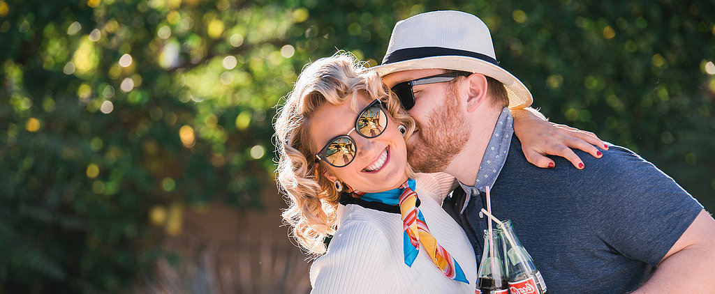 These Retro California Engagement Photos Take Glam to a New Level