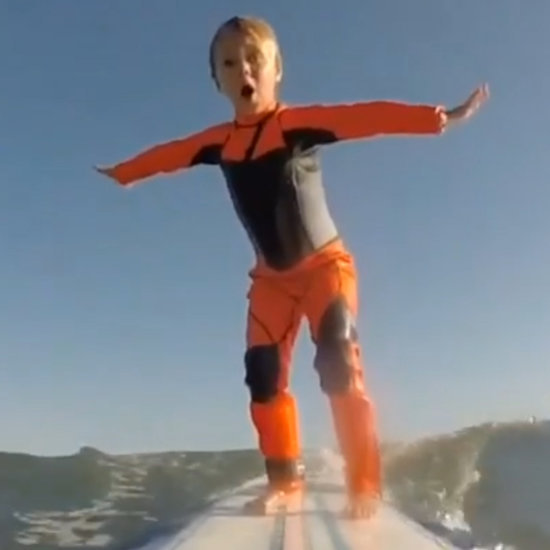 4-Year-Old Surfing With Her Dad (Video)