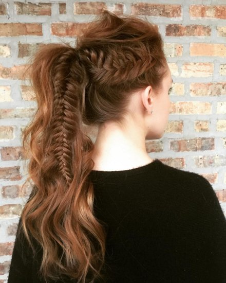 25 Chic Fishtail Ponytails That Will Cause Plait Envy