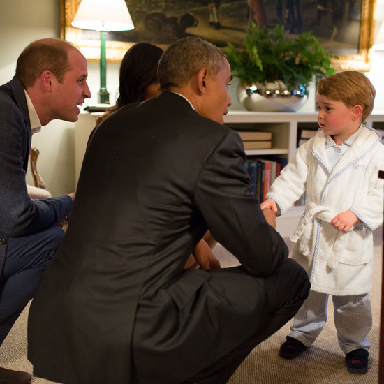 Prince George Meeting Barack and Michelle Obama Pictures