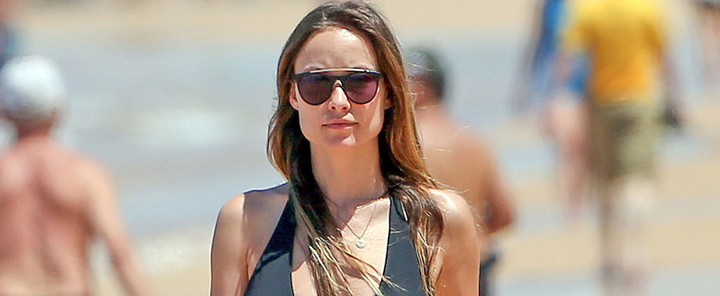Olivia Wilde Looks Calm, Cool, and Collected While Hanging at the Beach With Her Baby Bump