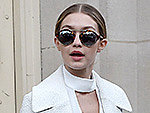 Gigi Hadid's 21st Birthday Style Includes a Gingham One-Piece and a Neck Scarf (Is She Turning Into Taylor Swift?)