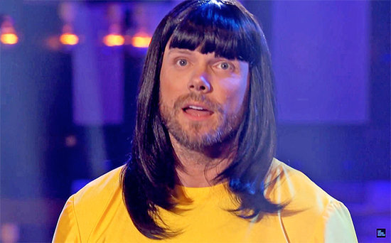 FROM EW: Joel McHale Channels Björk for Lip Sync Battle