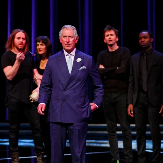 Prince Charles and Benedict Cumberbatch at Shakespeare Live