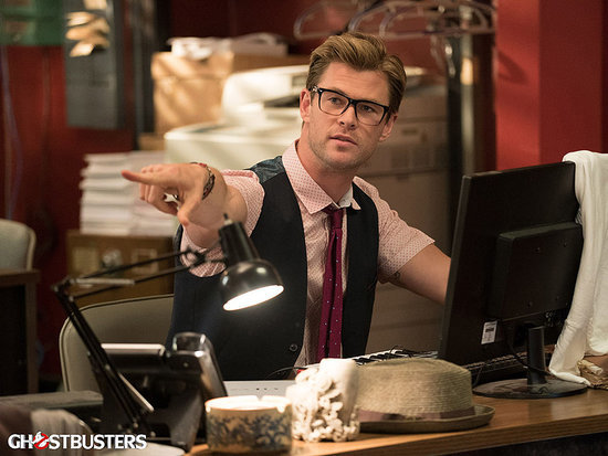Chris Hemsworth Calls His Adorable Ghostbusters Character a 'Big, Dumb Puppy Dog' in Newly Released Footage