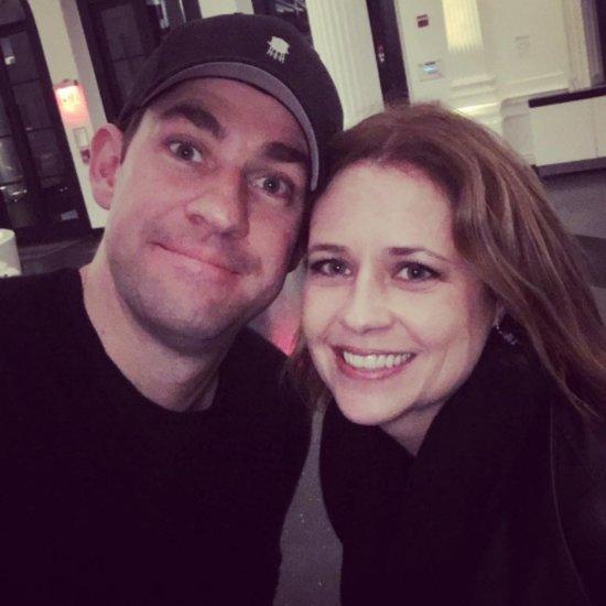 John Krasinski and Jenna Fischer in NYC April 2016