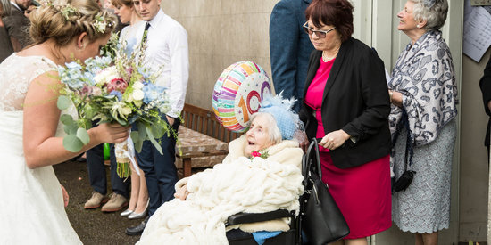 100-Year-Old Granny Crushes Bridesmaid Duty At Granddaughter's Wedding