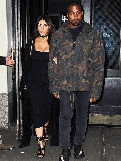 Kim Kardashian and Kanye West Keep It Kasual (and Kurvy) Ahead Of Met Gala