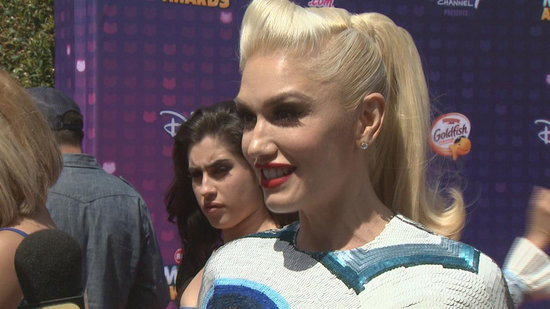 EXCLUSIVE: Gwen Stefani Dishes About 'Fun' Tour, Gets Congratulatory Kiss from Blake Shelton at Radio Disney Music Awards
