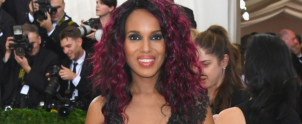 Kerry Washington's Magenta Hair Looks Incredibly Cool