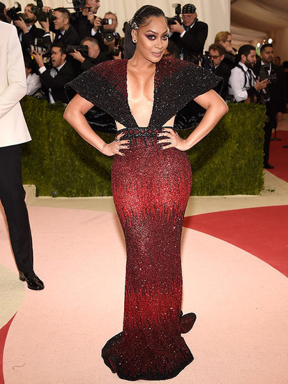 La La Anthony's Gravity-Defying Gown Is the Real Triumph of Technology at the Met Gala