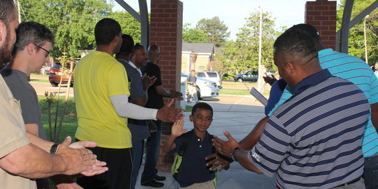 Hundreds Of Dads Show Up To High-Five Students, Boost Morale Before Exams