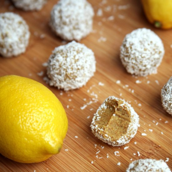 Lemon Coconut Protein Balls