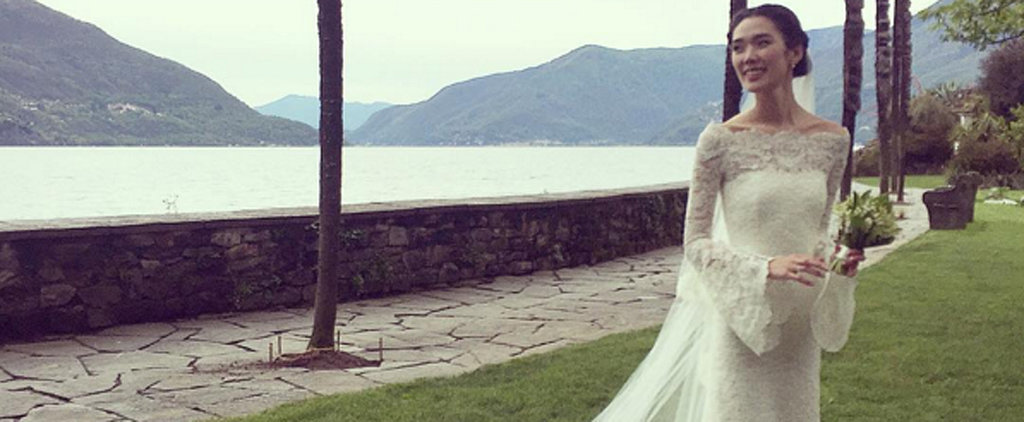 This Japanese Actress Wore a Lovely Lace Wedding Gown Like You've Never Seen Before