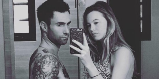 Adam Levine Proudly Displays 'Baby Bump' Alongside Pregnant Wife
