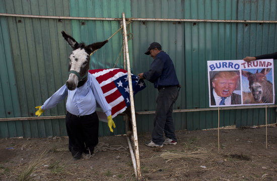 Mexican Town Holds Parade Filled with Donkeys Dressed as Donald Trump