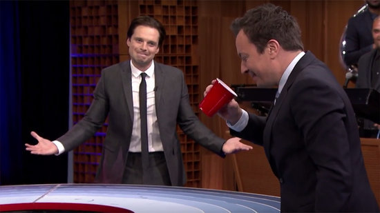 'Captain America' Cast Challenges Jimmy Fallon to a Game of 'Musical Beers' on 'The Tonight Show'