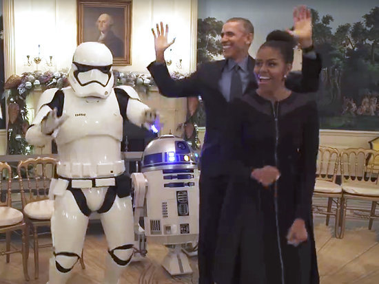 WATCH: The Obamas Dance with R2-D2 and a Couple of Stormtroopers to Celebrate Star Wars Day