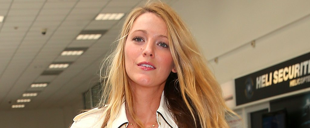Blake Lively Covers Her Growing Baby Bump During a Casual Outing in France