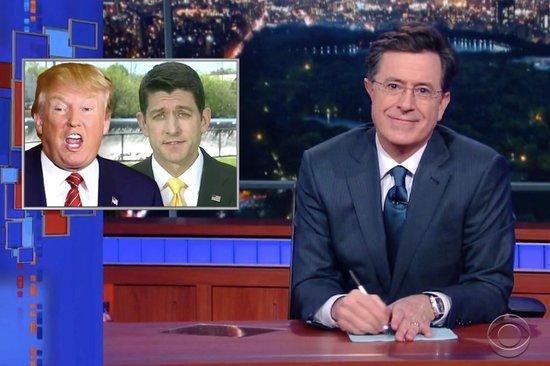 Colbert Helps Ryan Get 'Ready' for Trump