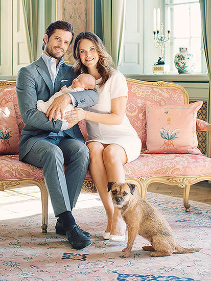 See the Dreamy New Photos of Prince Carl Philip, Princess Sofia and Their Newborn Son - with the Royal Dog!
