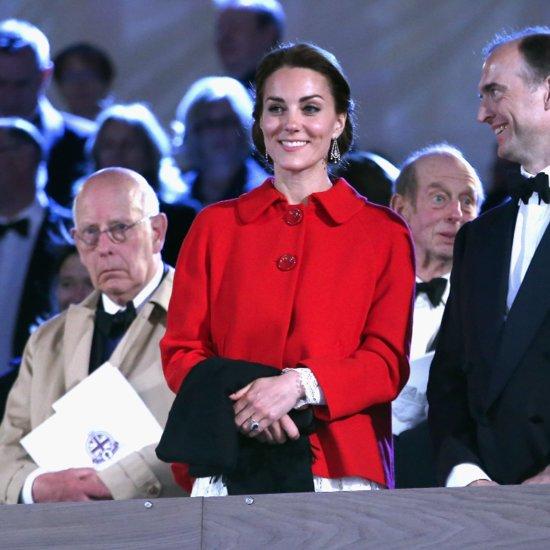 The Duchess of Cambridge's Red Zara Coat May 2016