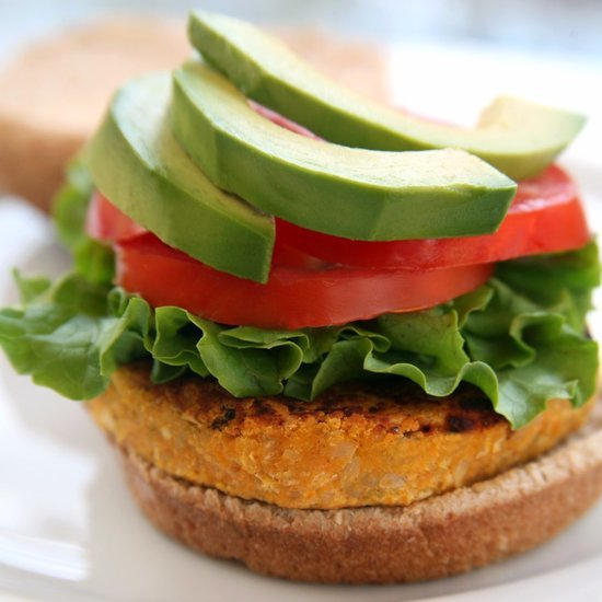 Vegetarian Sweet Potato Veggie Burger Recipe