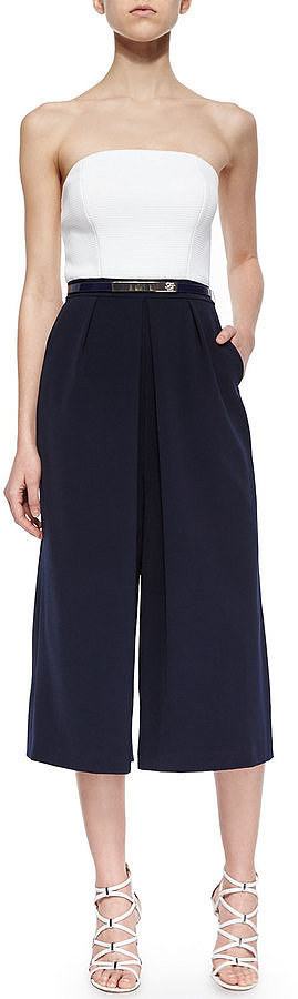 Ted Baker London Haylyn Strapless Culotte Jumpsuit ($325)