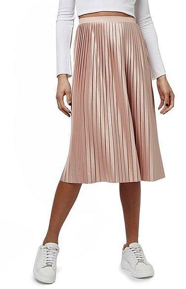 Topshop Pleat Jersey Midi Skirt (Regular & Petite) ($60)