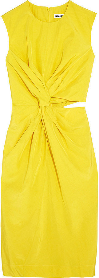 Jil Sander Cutout Silk-Blend Habotai Dress ($1,830)