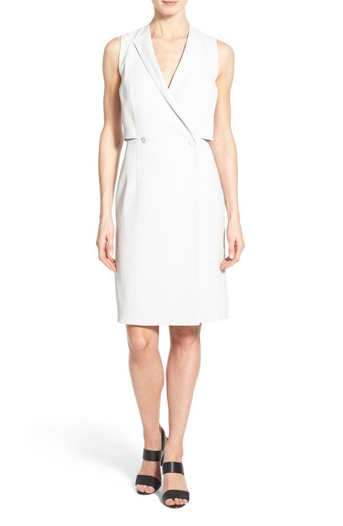 BOSS 'Damarine' V-Neck Sleeveless Tuxedo Dress (Regular & Petite) ($595)