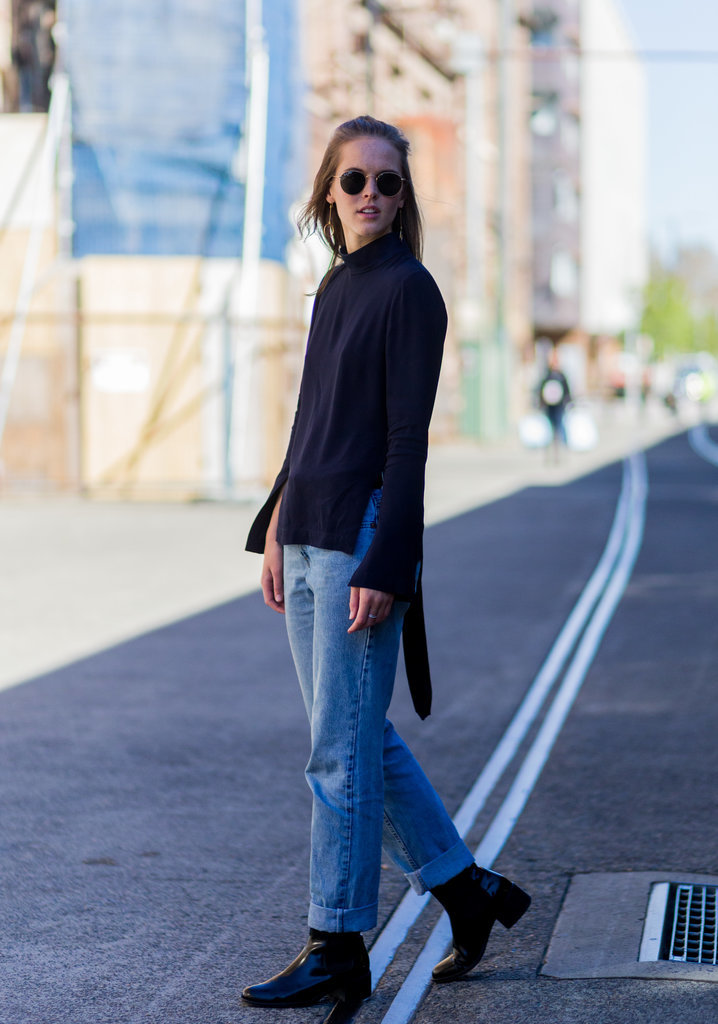 How To Wear Double Denim Fashion Week 2016 Popsugar Fashion Australia