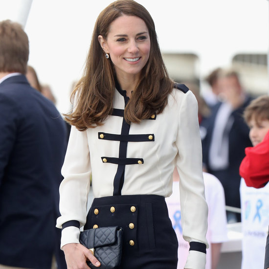 Duchess Kate in Alexander McQueen Military Dress May 2016