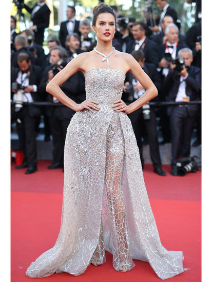 All About Alessandra Ambrosio's Crazy Couture Ballgown/Pants Hybrid at Cannes