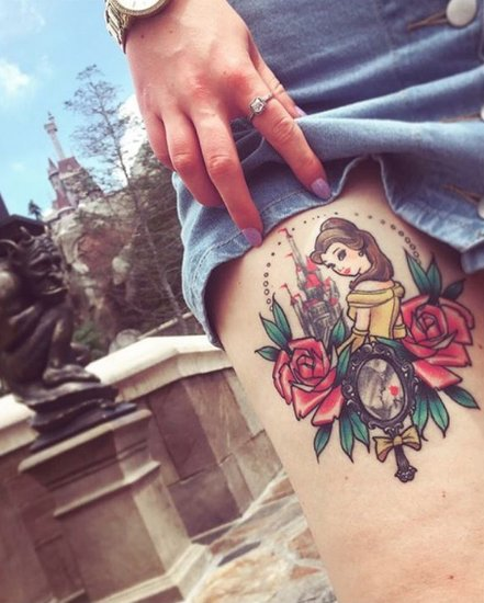 Beauty and the Beast-Inspired Tattoos
