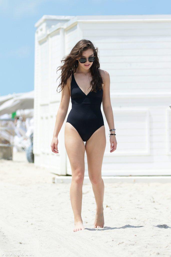 Hailee Steinfeld Black Swimsuit in Miami May 2016 ...