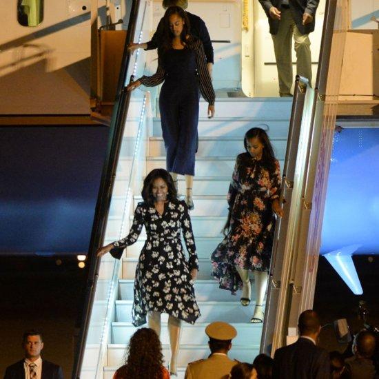 Michelle Obama's Floral Dress in Morocco June 2016
