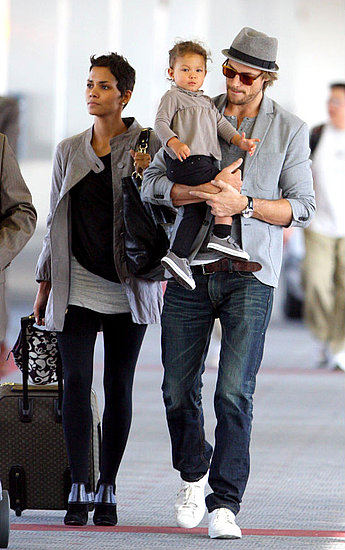 Halle Berry and family at LAX