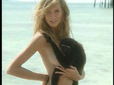 Heidi klum and monkey!