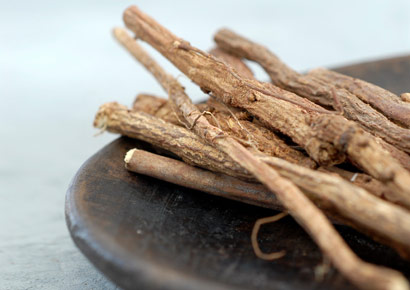 "Licorice for Calluses and Burns ""Licorice contains estrogen-like substances that soften the hard skin of calluses and corns,"" says Georgianna Donadio, PhD, director of the National Institute of Whole Health. Make this homemade licorice paste: Grind up a few licorice sticks, mix them with ½ teaspoon of petroleum jelly, and rub the mixture into the rough areas of your feet."