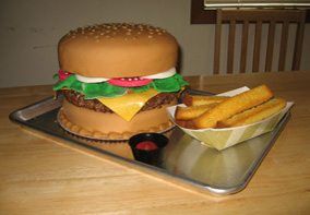 Hamburger cake