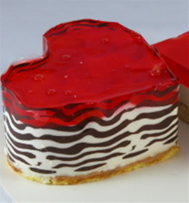 Cake with jello on top