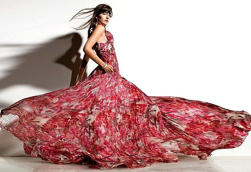 Camilla Belle Works Her Floral Gown